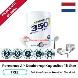 Daalderop pemanas air water heater listrik 15 liter gratis kran shower