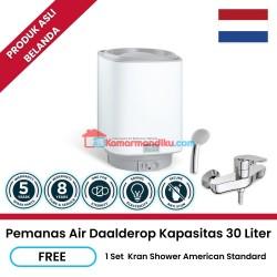 Daalderop pemanas air water heater 30 liter gratis kran shower Promo