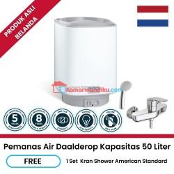 Daalderop pemanas air water heater 50 liter free kran shower promo