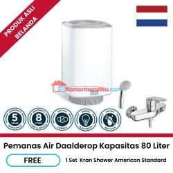 Daalderop pemanas air water heater 80 liter free kran shower promo