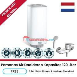 Daalderop pemanas air water heater 120 liter free keran shower promo