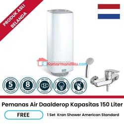 Daalderop pemanas air water heater 150 liter free keran shower promo