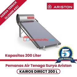 Pemanas air solar water heater ariston kairos direct 200 Liter garansi