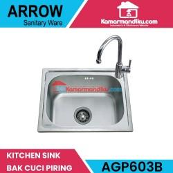 Arrow kitchen sink AGP603B bak cuci piring dan kran dapur berkualitas