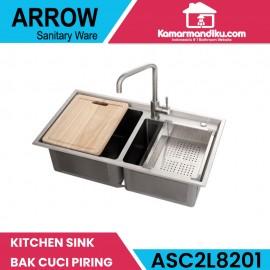 Arrow kitchen sink dapur ASC2L8201 bak cuci piring gratis kran dapur