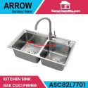 Arrow Kitchen sink dapur ASC82L7701 bak cuci piring gratis keran promo